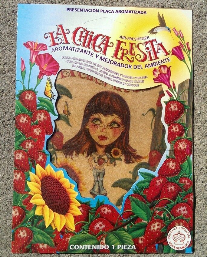 LA CHICA FRESITA  Car Air Freshener  Strawberry Fresa Aromatizante  LOT OF 25PC