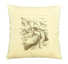 Vietsbay Great Wall Printed Cotton Decorative Pillows Cover Cushion Case... - €11,01 EUR