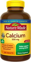 Pack of 6 Nature Made Calcium 500 mg, with Vitamin D3 for Immune Support, 300 ct - $208.45
