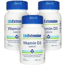 Life Extension Vitamin D3 5,000 IU 60 Softgels - 3-Pak - $34.78