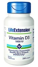 Life Extension Vitamin D3 1000 IU 250 Softgels - $10.77