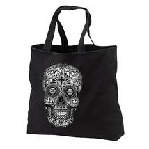 Sugar Skull New Black Tote Bag Shop Gifts Day of the Dead - $17.99