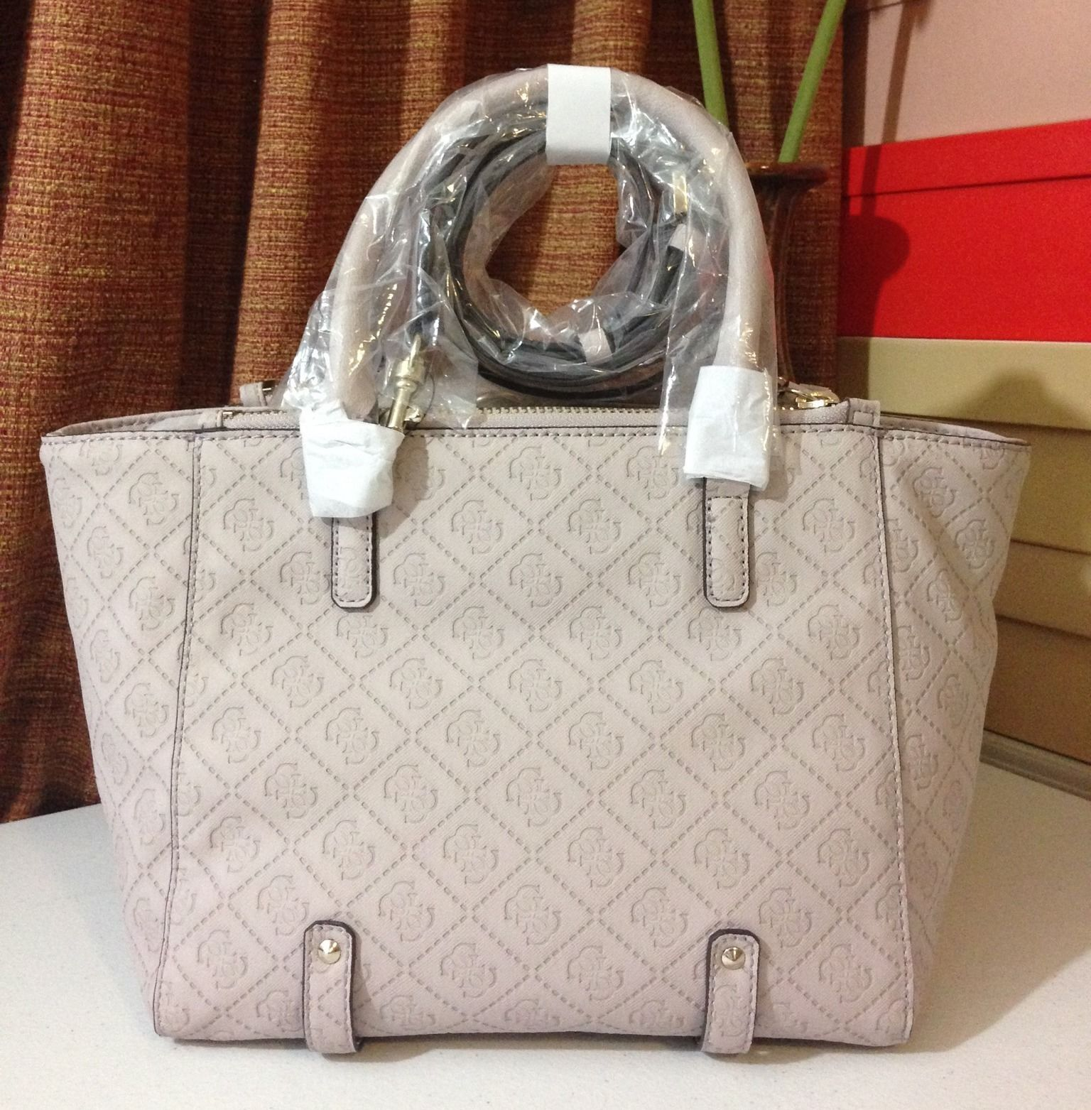 NWT GUESS Rikki E/W Status Satchel Lilac MSRP $110