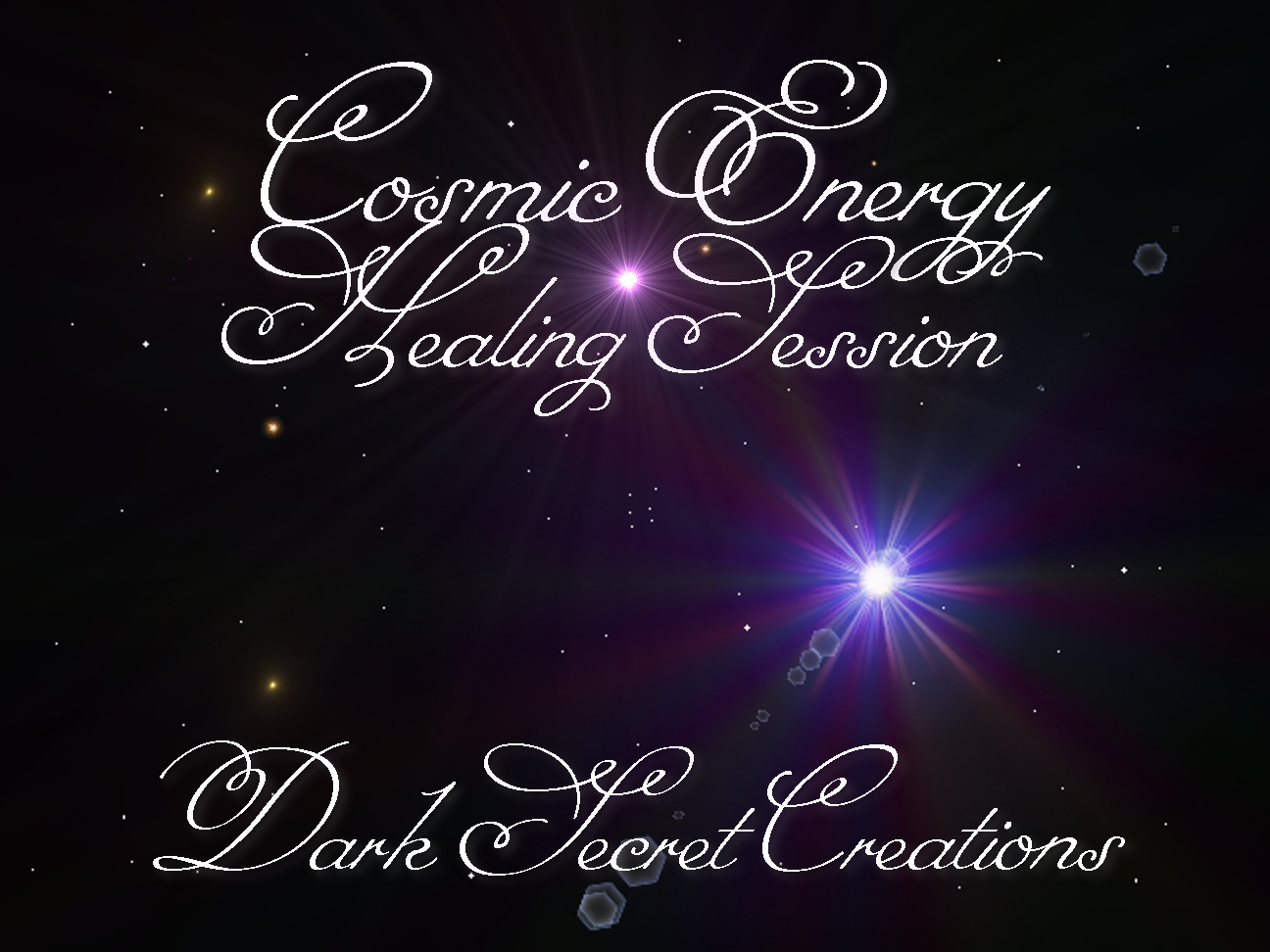 Cosmic energy healing session