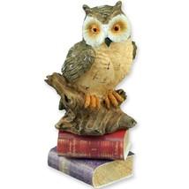 DOLLHOUSE Master Owl Statue with Books Reutter 1.422/8 Decor Miniature - $15.51