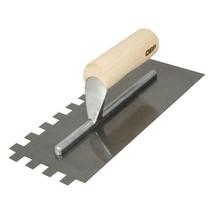 QEP Traditional Carbon Steel Notched Flooring Trowel w/Wood Handle 1/2x1... - $5.93