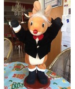 Rudolph The Red Nosed Reindeer Dancing Musical Animated Lighted Motionet... - $39.99