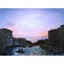 Winter Canal, An Original Painting Set In Venice - $1,000.00
