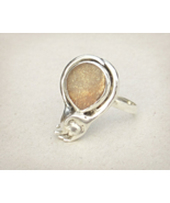 Hand and paw ring, Oregon sunstone sterling silver, animal friend ring s... - £73.22 GBP