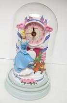 Disney Cinderella Jaq Gus Clock Figurine Glass Dome Sculpted Resin Anniv... - $49.95