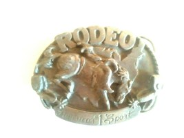 "ORIGINAL ""NOS"" SISKIYOU BELT BUCKLE RODEO #1 SPORT I27 1983 apx 3 1/8 x2... - $13.85"