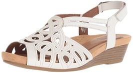 Rockport Cobb Hill Women's Helen CH Wedge Sandal,White,7 US/7 W US - $89.54