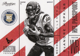 DeAndre Hopkins 2013 Panini Prestige NFL Passport Rookie Card #3 - $0.99