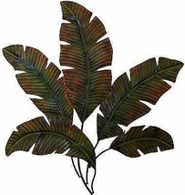 Metal Palm Tree Leaves Wall Sculpture Art Decor Indoor Outdoor Kitchen R... - $65.04