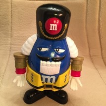 M&M Nutcracker Dispenser Blue/Yellow M&M Dispenses Candy through Mouth V... - $14.50