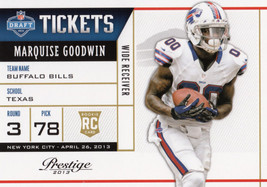 Marquise Goodwin 2013 Panini Prestige Draft Tickets Rookie Card #21 - $0.99