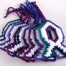 Fish Decoration Variegated Green Purple Blue - $5.00