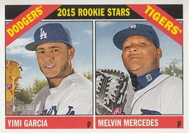 An item in the Sports Mem, Cards & Fan Shop category: Yimi Garcia/Melvin Mercedes 2015 Topps Heritage Rookie Stars Card #288