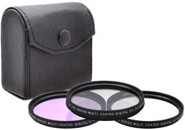 58mm 3PC Filter Kit (UV FLD CPL) For Canon PowerShot G12 G11 G10 Digital... - $21.99