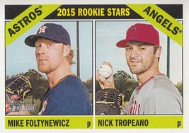 Mike Foltynewicz/Nick Tropeano 2015 Topps Heritage Rookie Stars Card #244 - $1.28