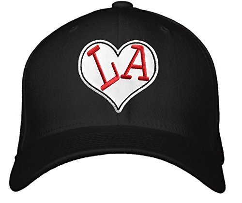 I Love LA Hat - Adjustable Black - Los Angeles Heart Cap