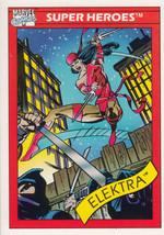 Elektra 1990 Marvel Comics Card #49 - $0.99