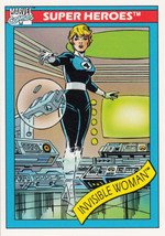Invisible Woman 1990 Marvel Comics Card #43 - $0.99