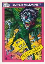 Nightmare 1990 Marvel Comics Card #56 - $0.99