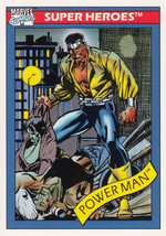 Power Man 1990 Marvel Comics Card #12 - $0.99