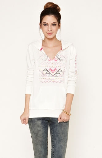 WOMEN'S/JRS BILLABONG DON'T TELL  PULLOVER HOODIE IVORY NEW $50