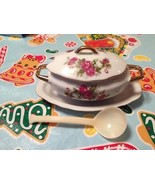 Vintage Royal Crown 1446 Pink Roses SUGAR DISH with Gold Trim Mint Very ... - $14.99