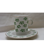 Vintage Arklow SHAMROCK Tea Cup and Saucer Set Made in Ireland St. Patty... - $13.00