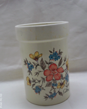 Vintage Floral Design SALTERA  Stoneware Utensil Crock // Decorative Kit... - $13.00