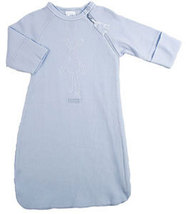 Preemie 3-5 Pounds Kushies Baby Rib Blue Layette Gown - $20.00