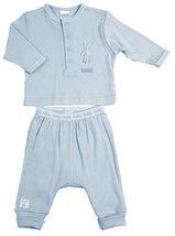 Preemie 3-5 Pounds Kushies Baby Rib Blue Top & Pant Set - $20.00