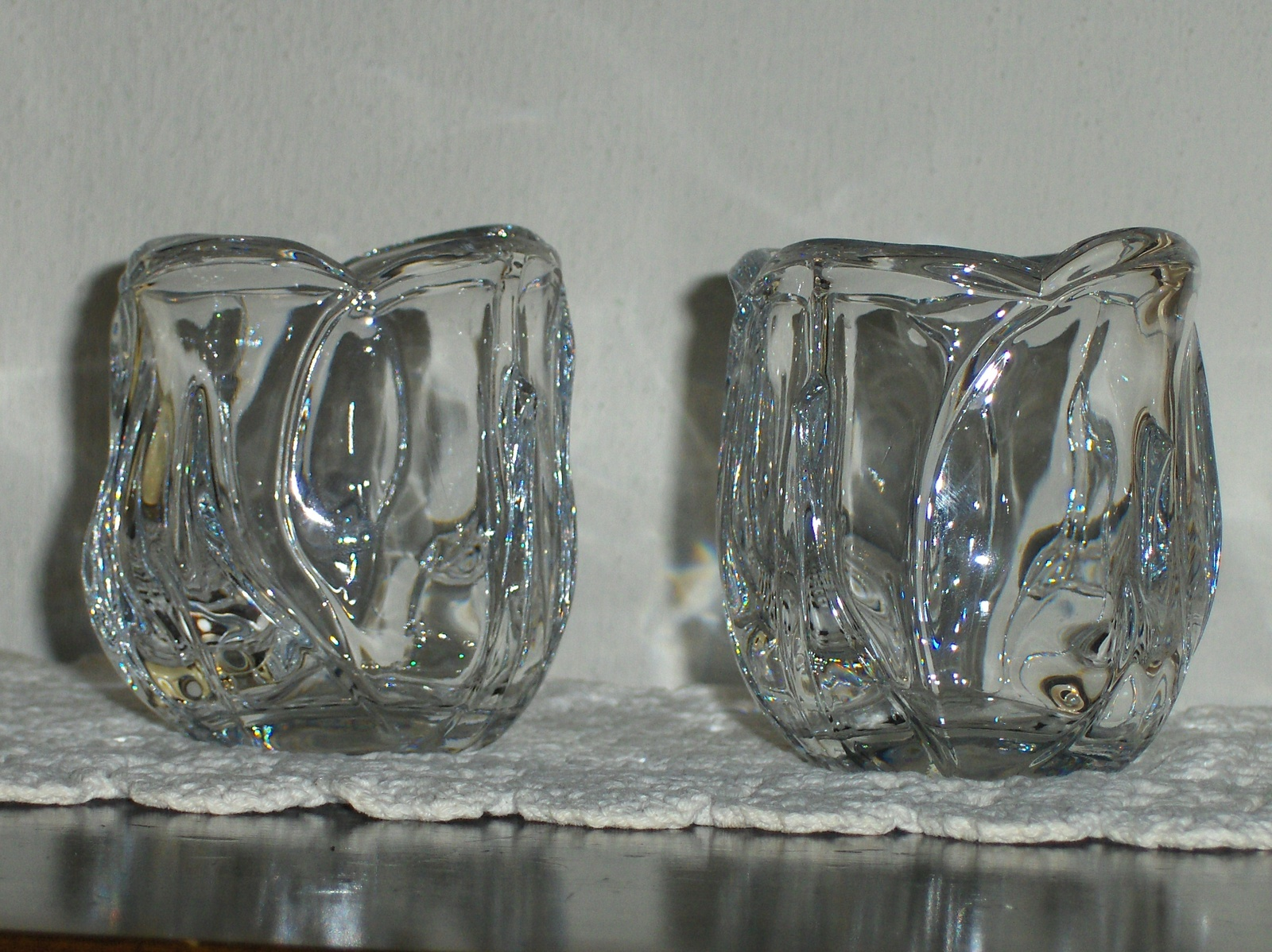HOME INTERIOR HOMCO SET OF 4 FROSTED VOTIVE CUPS CANDLE HOLDERS