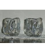 Tulip 24% Lead Crystal Votive Cup Tea Light Votive Glass Candle Holders Set - £20.96 GBP