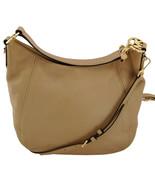 Michael Kors Fulton Hobo Shoulder Bag Dark Khaki Brown Leather - $336.43