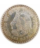 1948 Mexico Silver 5 Pesos Cuauhtemocs XF - $39.16