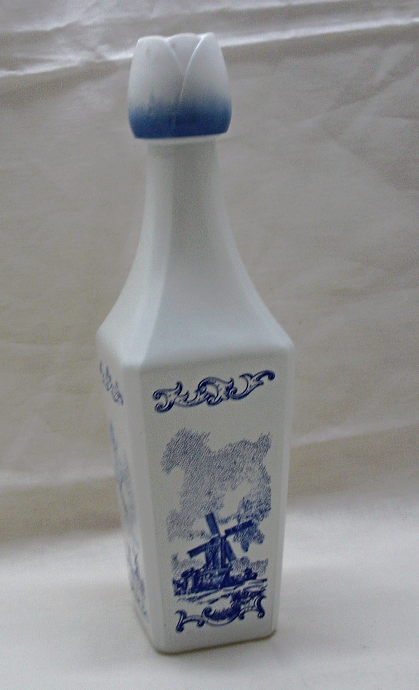 Vintage Liquor Bottle Holland Windmills Sailboats Liquor Bottle Holland
