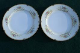 "Old Royal China Japan 10"" Flower Bouquet Dinner Plates Pink Gold Gild Ol... - $26.00"
