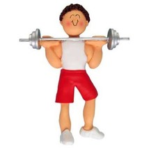 WEIGHTLIFTER WEIGHT LIFTER ORNAMENT BODY BUILDER WORKOUT GYM PERSONALIZE... - $13.81
