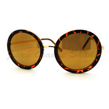 Vintage Fashion Sunglasses Super Oversized Round Circle Reflective Lens - £5.72 GBP