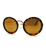 Vintage Fashion Sunglasses Super Oversized Round Circle Reflective Lens - £5.75 GBP
