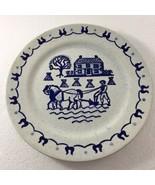 "Metlox Poppytrail Provincial Blue Dinner Plate 10"" Made in USA Farmer Ho... - $31.85"