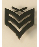 Black Sergeant's Stripes Pin Unmarked with Double Clutches Needs Fresh P... - $7.50