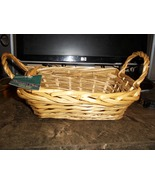 Pretty Decorator's Choice Willow Basket with Side Handles Unlined 10 in ... - $6.99