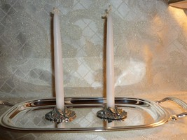 Pewter Candle Holders Two Comstock Pewter Suiteable For Vintage Wedding ... - $20.00