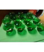 Beautiful Dark Green TIARA Set of 5 Mini CUPS & SAUCERS and 6 FREE Cups - $13.57