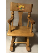 Vintage STROMBECKER Miniature Dollhouse Wooden Rocking Chair - $18.70